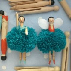 Make these Pom Pom Peg Tutu dolls with just an old fashioned clothespin, some paint and some yarn.