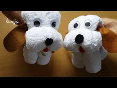 DIY Dog Kid Toy from Towel - Quick & Cute Gift - YouTube