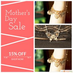 15% OFF All Jewellery. Mothers Day Sale ends soon! on select products. Hurry, sale ending soon!  Check out our discounted products now: https://small.bz/AAX27Vi  #musthave #loveit #instacool #shop #shopping #onlineshopping #instashop #love #sale #instasale #birdsbeesbutterflies #JenC