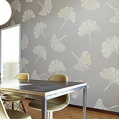 Gingko leaves stencil - I used this stenil on our dining room wall.  I love it!