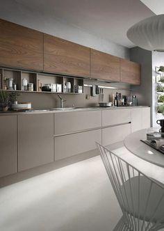 32 Stunning Modern Contemporary Kitchen Cabinet Design - Home Design Contemporary Kitchen Cabinets, Contemporary Kitchen Design, New Kitchen Cabinets, Kitchen Cabinet Design, Interior Design Kitchen, Kitchen Modern, Modern Contemporary, Kitchen Grey, Kitchen Wood