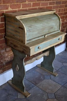 Cottage Chic Roll Top Desk