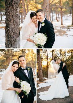 A Modern Rustic Winter Wedding