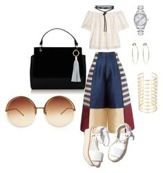 """get ready #ootd"" by itstyrell on Polyvore featuring H&M, Paloma Barceló, Bebe, Mestige and Linda Farrow"