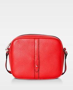 Round Cross Body Bag - Red