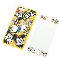 iPhone5/5s専用スマートフォン用カバー・画面保護シート ぷくぷく ミッキー&フレンズ