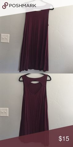 Dress Purple shift dress with cut out in the back American Eagle Outfitters Dresses