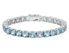 Blue Topaz Bracelet 15.0 Carat (ctw) in Sterling Silver $99.00 (50% OFF)