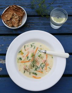 creamy fish soup with dill Soup Recipes, Great Recipes, Types Of Pizza, Norwegian Food, Fish Soup, Indian Food Recipes, Ethnic Recipes, Food Items, No Cook Meals