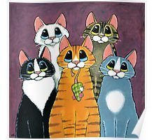 A Feline Family Portrait by Lisa Marie Robinson # Pets desenho 'A Feline Family Portrait' by Lisa Marie Robinson Cat Pose, Orange Tabby Cats, Cat Quilt, Cat Drawing, Whimsical Art, Cats And Kittens, Cats Meowing, Ragdoll Kittens, Funny Kittens
