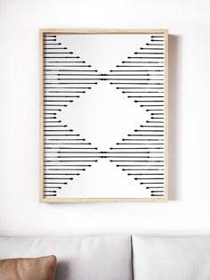 Printable minimalist wall art // Mid-century modern rustic home decor Diy Wall Art, Modern Wall Art, Wood Wall Art, Modern Decor, Rustic Decor, Mid-century Modern, Modern Rustic, Rustic Art, Wood Walls