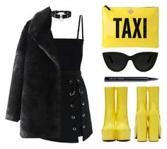 """Taxi clutch"" by baludna ❤ liked on Polyvore featuring Vetements, T By Alexander Wang, Chicwish, Kate Spade, Quay, Bobbi Brown Cosmetics and Zana Bayne"