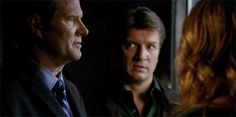 Jack Coleman, Nathan Fillion and Stana Katic in Castle
