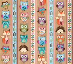 Woodland Critters Foxes, Owls, & Porcupines Cotton Fabric Collection by SPX! Woodland Critters, Woodland Creatures, Cotton Crafts, Fabric Crafts, We Heart It, Buy Fabric Online, Owl Patterns, Cute Backgrounds, Over The Rainbow