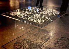 Paper art sandwiched in acrylic -  Karen Bit Vejle