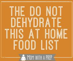 Have you ever wondered what foods you should or should not dehydrate? We've got you covered! Here's a practical list from Mom with a PREP. Fruit And Veg, Fruits And Veggies, Zucchini Rolls, Dehydrated Food, Dehydrated Vegetables, Dehydrated Strawberries, Dried Vegetables, Canned Food Storage, Dehydrator Recipes