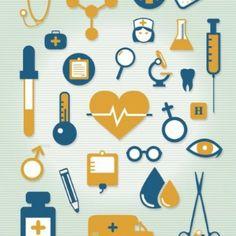 Colourful Medical icons set