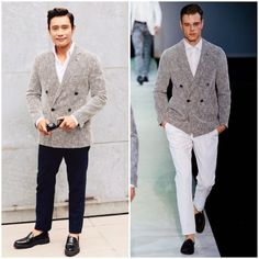 Men's Fashion - Lee Byung-Hun [이병헌] in Giorgio Armani - Milan...