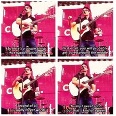 This man is so honest.  Hahahaha!  I would love to go to one of his shows