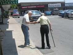helping people | old people helping other old people