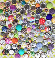 Button Earrings / 25 Pairs / Wholesale Jewelry / by ManhattanHippy