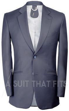 Navy Distinguished 2-Piece Suit with gunmetal lining.