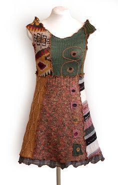 Kesidov - Mythological tunic upcycled sweaters