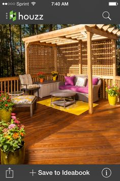 Deck ideas ***Repinned by Normoe, the Backyard Guy (#1 Backyard Guy on Earth). Follow us on; twitter.com/backyardguy