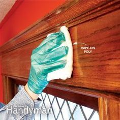 Wipe on polyurethane works better than brush on for revamping old wood trim