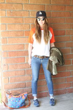 tom boy casual: what to wear to the ball park