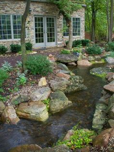 35 Awesome Backyard Ponds and Water Garden Landscaping Ideas The paths of a. 35 Awesome Backyard P Rain Garden Design, Backyard Garden Landscape, Pond Design, Large Backyard, Ponds Backyard, Backyard Landscaping, Landscape Design, Landscaping Ideas, Garden Ponds