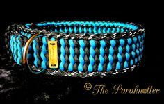 Adjustable Dog Collar with Reflectable stitch on the outside. (Double Feather Bar)  #Paraknotter #Handmade #Paracord #Paracord550 #Adjustable #reflectable #dogcollar #paracorddogcollar #Dogs