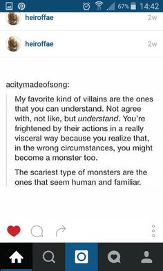 this is true, and that's part of the reason that i don't get scared of horror movies with aliens, because it's scarier to think that a human can harm and hurt another humab.