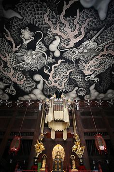 twin dragons in the old temple | Kenninji-temple #japan #kyoto