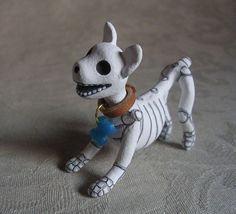Day of the Dead Art Miniature Dog Skeleton