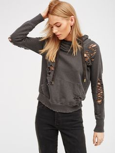 NSF Pigment black Lisse Pullover at Free People Clothing Boutique