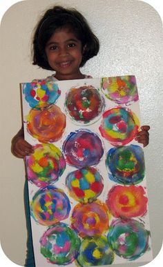 """Simple """"spin art"""" without a spinner... What else can you use to spin?"""