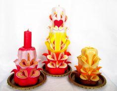 Handmade Decorative Items, Decorative Candles, Handmade Decorations, Birthday Candles, Candle Holders, Porta Velas, Handmade Ornaments, Candlesticks, Candle Stand