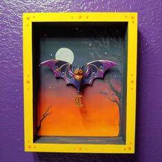 "Seeshami Dawn on Instagram: ""Mess made and ornament shadow box complete. #halloweenbathroom #savethebats and just for good measure #savethebees too. All pollinator are…"""
