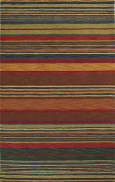 modernrugs.com green red yellow multicolored striped rug