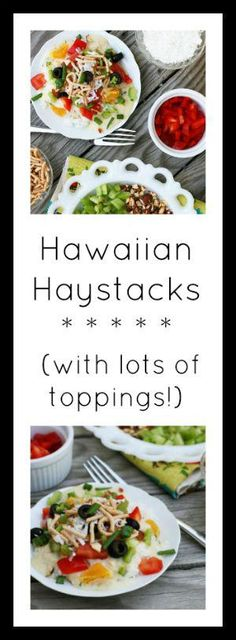 Rice, creamy chicken sauce, and a variety of toppings: Hawaiian haystacks are easy to make and crowd-pleasing. Get the recipe now! Creamy Sauce For Chicken, Canned Chicken, Chicken Sauce, Hawaiian Haystack Recipe, Hawaiian Haystacks, Real Food Recipes, Chicken Recipes, Yummy Food, Cheap Meals