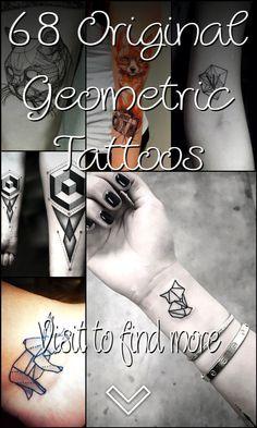 68 Original Geometric Tattoos Geometric Tattoo Flash, Geometric Tattoo Design, Geometric Shapes, Skull Tattoos, Girl Tattoos, Tattoos For Guys, Cool Chest Tattoos, Symbols Of Strength, Tattoo Designs