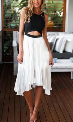 Color-block asymmetrical dress - love it