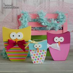 The Wood Connection - Easter Owl Trio, $3.50 (http://thewoodconnection.com/easter-owl-trio/)