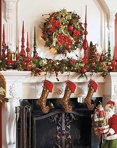 Christmas garland for the mantle | Christmas garland for the mantle with cool ... | Home For The Holiday ...
