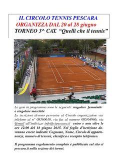 """Claudio Masci """"stra""""vince il Torneo di tennis di III categoria di Pescara"""