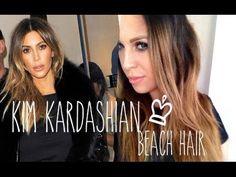 Kim Kardashian beach wave hair tutorial