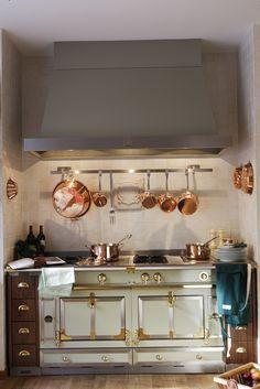 Copper cookware, Kitchen Note: Love the copper cookware