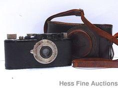 Vintage Leica II 79642 Elmar 50mm Lens Camera w Leather Case #Leica