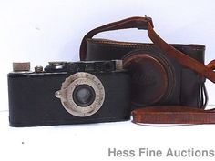 Vintage Leica II 79642 Elmar 50mm Lens Camera w Leather Case #Leica